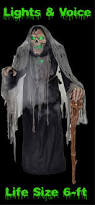 halloween grim reaper prop speaking life size animated rising phantom reaper horror prop