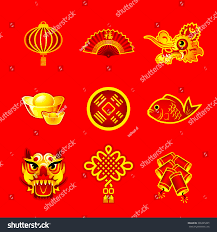 new year decorations ornaments symbols stock vector