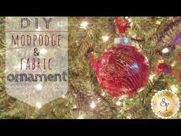 diy mod podge and fabric ornaments with jennifer bosworth of