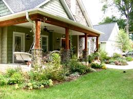 garden and patio shade front yard landscape house design with