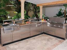 Kitchen Cabinets Stainless Steel Outdoor Kitchen Cabinet With Outdoor Stainless Steel Countertops