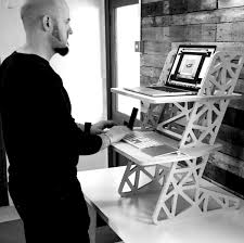 standing desks and wooden laptop stands made in the uk