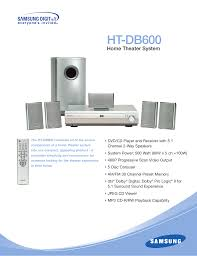 samsung 5 in 1 home theater download free pdf for samsung ht db600 home theater manual