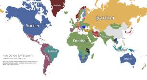 how do you say map in cup 2014 how do you say soccer and goal