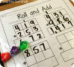 multi digit addition and subtraction task cards plays student