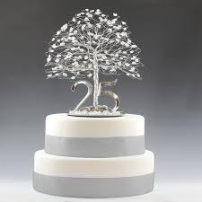 silver anniversary ideas 25th anniversary cake topper gift decoration birthday idea