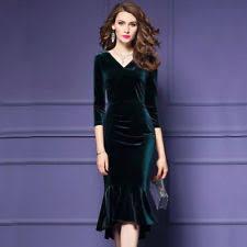 full length party long sleeve velvet dresses for women ebay