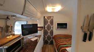 70 u0027s vintage airstream remodeled into cozy tiny house youtube