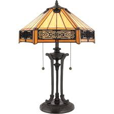 Vintage Table Lamp Shades Amazon Table Lamp Shades With Quoizel Tf6669vb Tiffany 2 Light