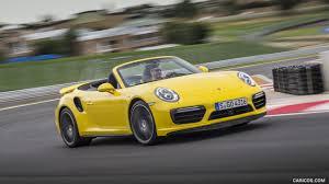 Porsche 911 Yellow - 2016 porsche 911 turbo cabriolet color racing yellow front