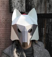 wolf mask wolf mask diy printable party mask party costume paper creation