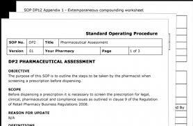 Pharmacy Standard Operating Procedures Template easysop standard operating procedures for pharmacies