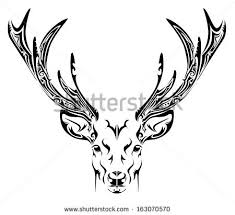 abstract deer head tribal tattoo stock vector 163070570 shutterstock