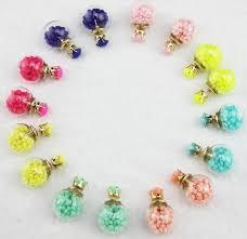 cheap earrings cheap stud earrings 2017 2015 transparent glass stud earrings