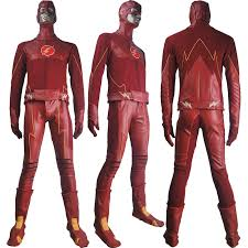 Halloween Costume Superhero Flash Cosplay Barry Allen Flash Costume Superhero Suit
