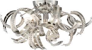ribbon light quoizel rbn1616crc ribbons chrome xenon flush mount light