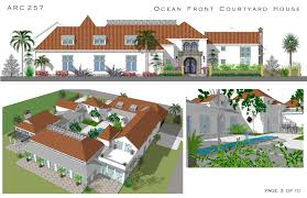 Mediterranean House Plans by Home Plans With Courtyard Pools Escortsea