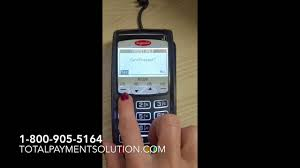 how to key in a credit card transaction on an ingenico ict220