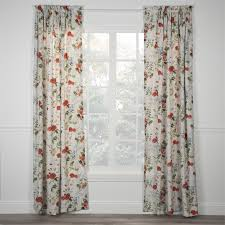 botanical floral curtain panel floral curtains window and