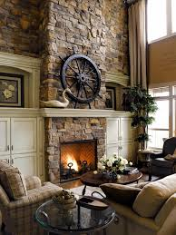 elegant stone indoor fireplace design for cozy nature home hupehome