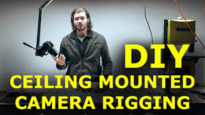 diy ceiling camera mount no more tripods in way youtube