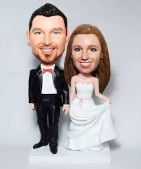 cake toppers bobblehead custom wedding cake topper bobbleheads