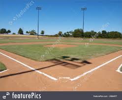picture of baseball field diamond with home plate