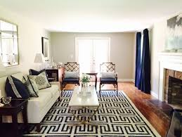 Transitional Style Interior Design Boston Greek Key Rug Living Room Transitional With Navy And White