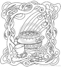 rainbow pot of gold coloring pages pot colouring designs flowers in a pot coloring pages image