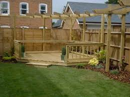 adorable garden decking designs with additional small home