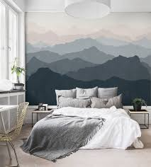mountain mural wall art wallpaper peel and stick wall art mountain mural wallpaper