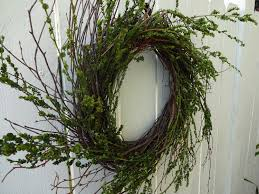 birch twig wreath twig wreath natural wreath door wreath home