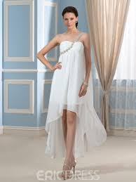 high low wedding dress ericdress one shoulder high low wedding dress 11508098 ericdress