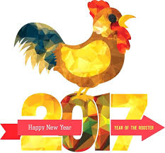year card 2017 year rooster design template on