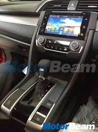 honda civic 2017 interior honda civic 2017 spotted at tapukara plant in rajasthan expected