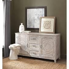 chennai 3 drawer whitewash dresser by home decorators havenly