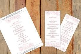wedding program template instant download edit your wording