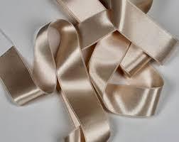 chagne satin ribbon chagne ribbon etsy