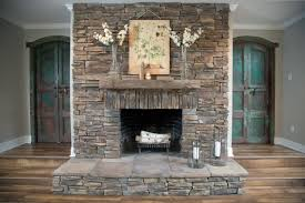 Stacked Stone Outdoor Fireplace - outdoor stacked stone fireplace best stacked stone fireplace
