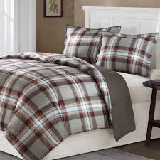 grey plaid bedding home kirkland plaid mini comforter set gray