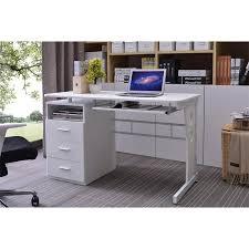 bureau informatique avec rangement bureau informatique blanc avec tablette et tiroirs de rangement