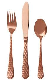 Design For Copper Flatware Ideas Smith Nobel Gold Cutlery Set Rosa Gold Pinterest