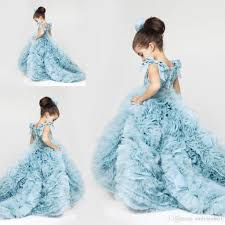 2016 white princess flower dresses for wedding sheer jewel