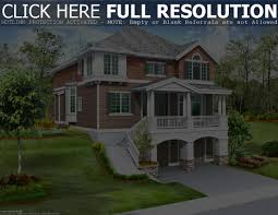 View Lot House Plans Hillside Home Plans With Basement Sloping Lot House Slope Bat