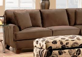 Fabric Sectional Sofa Chocolate Fabric Sectional Sofa W Optional Chair U0026 Ottoman