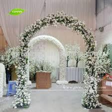 wedding arch entrance gnw fla1601002 new 8ft flower garden wedding arch bridal party