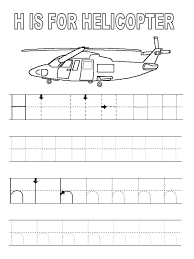 alphabet tracer pages h preschool crafts