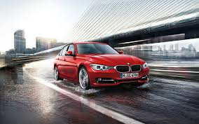 red bmw 2017 red bmw 3 series on rainy bridge 1920x1200 full hd 16 10
