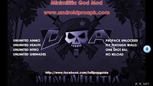 mini militia god mod apk v2 2 107 no root required
