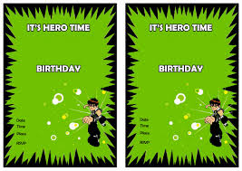 ben 10 birthday invitations u2013 birthday printable